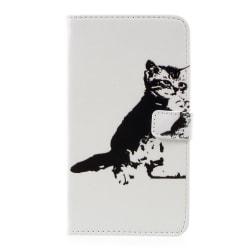 LG G6 Plånboksfodral Black and White Cat