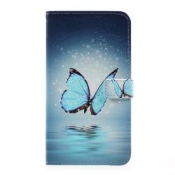 LG G6 Plånboksfodral Blue Butterfly Blå