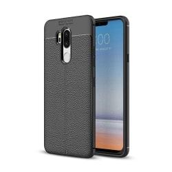 LG G7 ThinQ Litchi Texture TPU Skal - Svart Svart