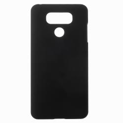 LG G6 Plastskal Rubberized - Svart Svart