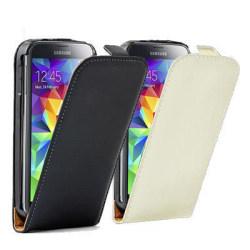 Lyxigt Samsung Galaxy S5 Flipp Läderfodral Vit