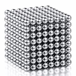 Magnetiska bollar att bygga och lära med - Silverfärgade Silver
