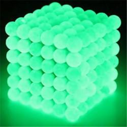 Magnetiska bollar att bygga och lära med - Självlysande Gröna Grön