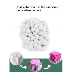 Magnetiska bollar att bygga och lära med - Vita Vit