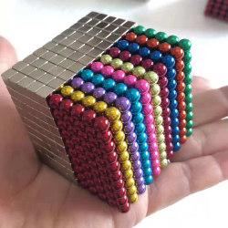 Magnetiska bollar/kuber att bygga och lära med 1000 styck MultiColor