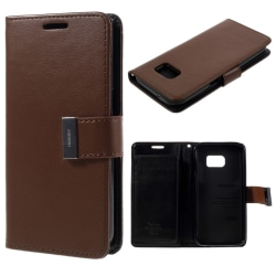 MERCURY Goospery Rich Diary till Samsung Galaxy S7 - Brun Brun