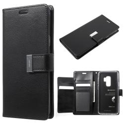 Mercury GOOSPERY Rich Diary till Samsung Galaxy S9 Plus - Svart Svart