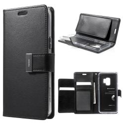 Mercury GOOSPERY Rich Diary till Samsung Galaxy S9 - Svart Svart