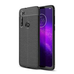 Motorola Moto G8 Power TPU skal Litchi Texture - Svart Svart
