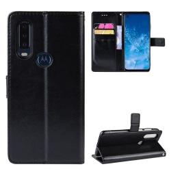 Motorola One Action Plånboksfodral Svart Svart