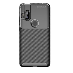 Motorola One Hyper Karbon fiber Skal - Svart Svart