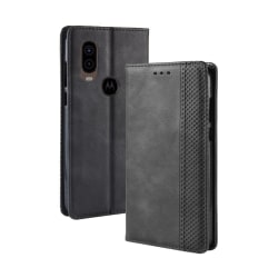 Motorola One Vision Plånboksfodral - Svart Svart