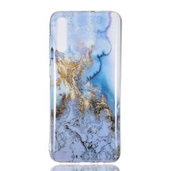 MTK Samsung Galaxy A70 TPU Marmor - Style F Svart