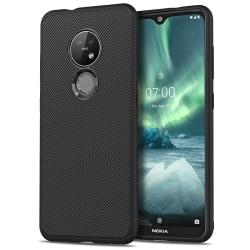 Nokia 6.2 / 7.2 Jazz  Twill Texture TPU-skal - Svart Svart