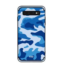 NXE Samsung Galaxy S10e TPU-Skal - Kamouflage - Blå Blå