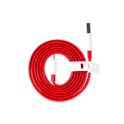 ONEPLUS 150cm Dash Charge Type-C Flat Cable 4A USB Fast Charge K Röd