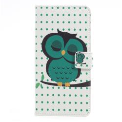 OnePlus 5 Plånboksfodral - Sleeping Owl Vit