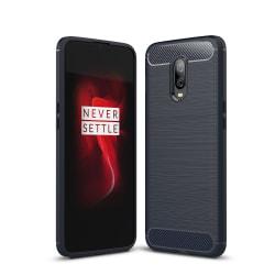 OnePlus 6T Karbon fiber Skal - MörkBlå Svart