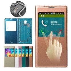 S-View fodral till Samsung Galaxy S5 Med Svarsfunktion SILVER