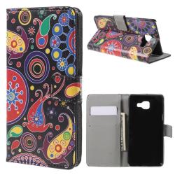 Samsung Galaxy A5 (2016) Plånboksfodral - Paisley Pattern Svart