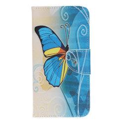 Samsung Galaxy A70 Plånboksfodral - Blue Butterfly Blå