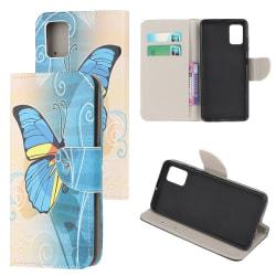 Samsung Galaxy A71 Plånboksfodral  - Blue Butterfly Blå