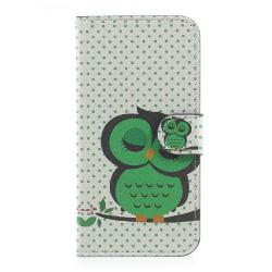 Samsung Galaxy J5 (2017) Plånboksfodral - Dozing Green Owl