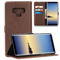 Samsung Galaxy Note 9 Stilrent plånboksfodral - Coffee Brun