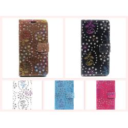 Samsung Galaxy S6 Edge Plånboksfodral Flash Powder Vit