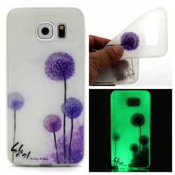 Samsung Galaxy S7 Edge Skal Glow in the dark - Dandelion Lila