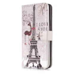 Samsung Galaxy S9+ Plus Fodral 9 Kortplatser - Eiffel Tower