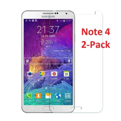 Samsung Note 4 Skärmskydd x2 med putsduk Transparent
