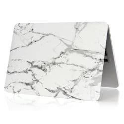"""Skal Till MacBook 12"""" Marmor Vit / Grå"""