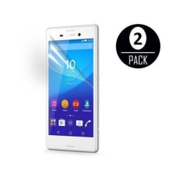 Sony Xperia M4 Aqua Skärmskydd x2 med putsduk Transparent