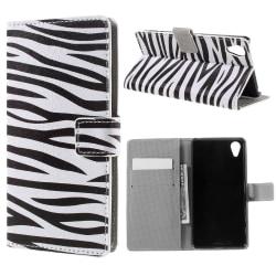 Sony Xperia X Performance Plånboksfodral Zebra Svart
