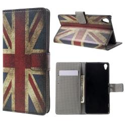 Sony Xperia XA Plånboksfodral Retro UK Flag Svart