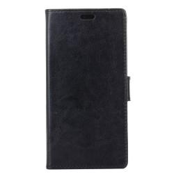 Sony Xperia XA2 Crazy Horse Plånboksfodral - Svart Svart