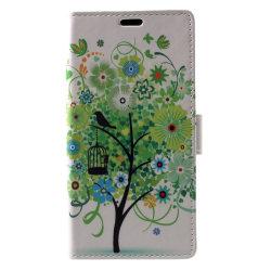 Sony Xperia XZ1 Plånboksfodral - Green Flower Tree