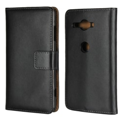 Sony Xperia XZ2 Compact Plånboksfodral Läder Svart
