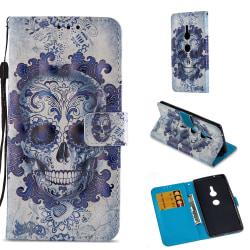 Sony Xperia XZ2 Plånboksfodral - Cool Skull