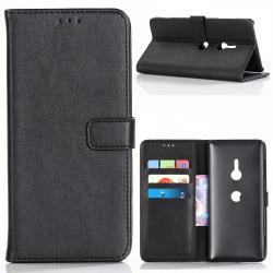 Sony Xperia XZ3 Retro Plånboksfodral - Svart Svart
