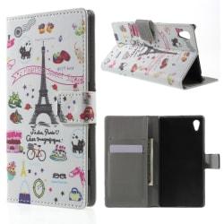 Sony Xperia Z5 Plånboksfodral Eiffel Tower Svart