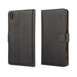 Sony Xperia Z5 Plånboksfodral Läder Svart