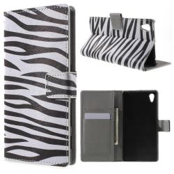 Sony Xperia Z5 Plånboksfodral Zebra Stripes Svart
