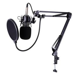 Studio Live Streaming Broadcasting Inspelning Mikrofon Youtube Black