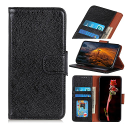 Xiaomi Redmi Note 9 Plånboksfodral Textured Split Black
