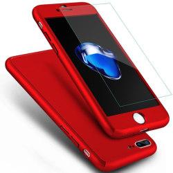 iPhone 6/6s |360° 3in1 FullCover Skal + 0.26mm 9H Glas - RÖD Röd