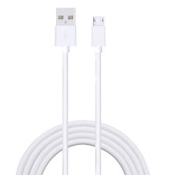 Laddkabel Micro USB V8|3M| Samsung/HTC/Nexus/Nokia |V8 vit