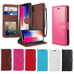 Plånboksfodral iPhone X / Xs| Läder | 2 kort + ID| ALLA FÄRGER svart