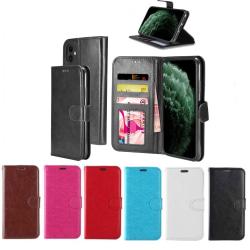 Plånboksfodral till iPhone 11 |Läder |3 kort + ID|ALLA FÄRGER svart